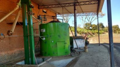 Secagem mecânica de cafés